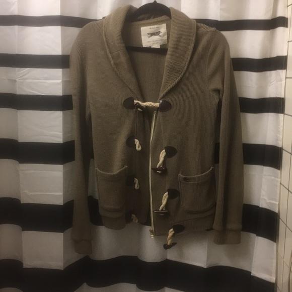 dfbeb88c9cb730 Obey olive toggle button cardigan. Size XS. M 5a8f607c1dffda67b77974ce